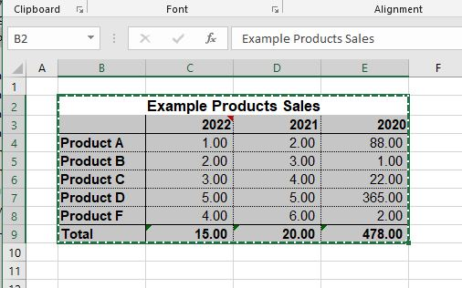 Selecting Excel Table for Exporting to Word as a Native Word Table