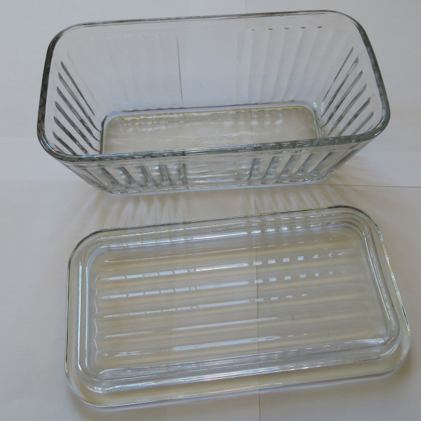 all glas food storage container with glass lid