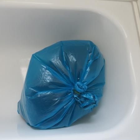 Bag Stored in Bathtub